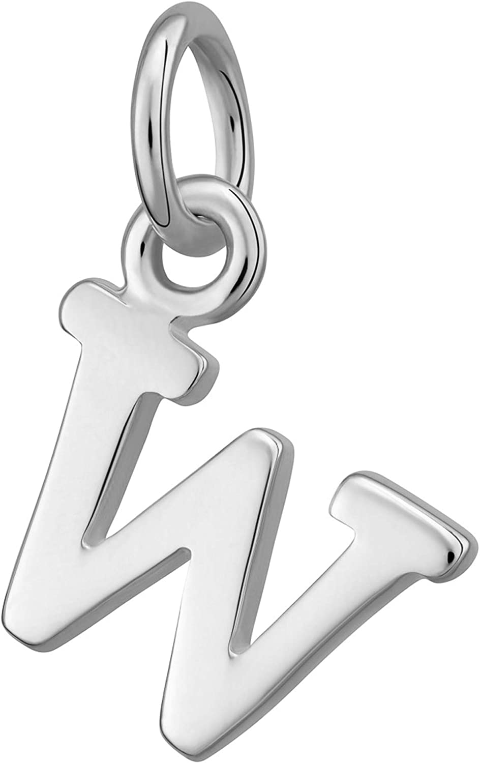 925 Sterling Silver Letter Initial Charm or 18ct Gold Plated Lily Charmed Alphabet A-Z Clip On Charm for Bracelet or Pendant Necklace