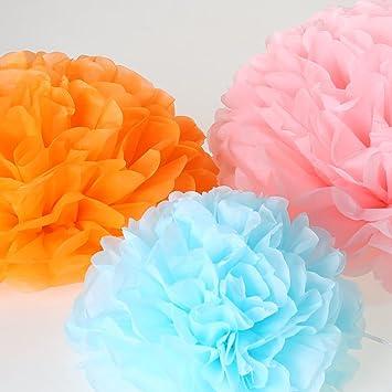 Amazon tissue paper pom poms paper flowers balls for wedding tissue paper pom poms paper flowers balls for wedding decor birthday celebration wedding mightylinksfo