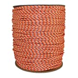 Dacron Polyester Pull Cord (#4) - SGT KNOTS - Solid Braid Rope - Small Engine Starter Rope - Replacement Cord Rope for Lawn Mowers, Leaf Blowers, Snowblowers, Generators, More (50 feet, Orange)
