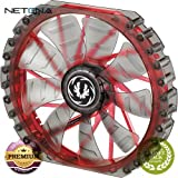 Spectre Pro 230mm LED Case Fan (Red LEDs, Black Frame) Spectre Pro 230mm LED Case Fan (Red LEDs, Black Frame) With Free 6 Feet NETCNA HDMI Cable - BY NETCNA