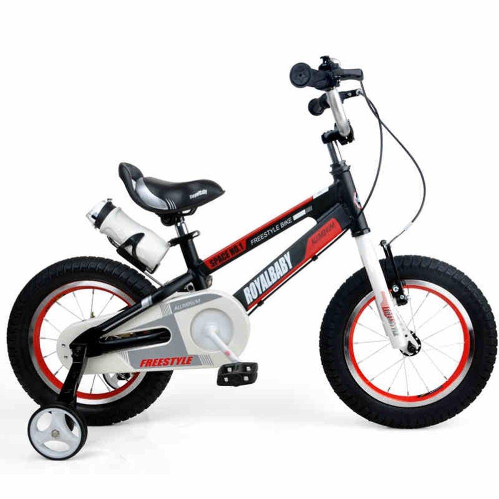 子ども用自転車 子供用自転車アルミ12インチベビーカー誕生日ギフト 少年少女の自転車  Red B07KT5W1KH