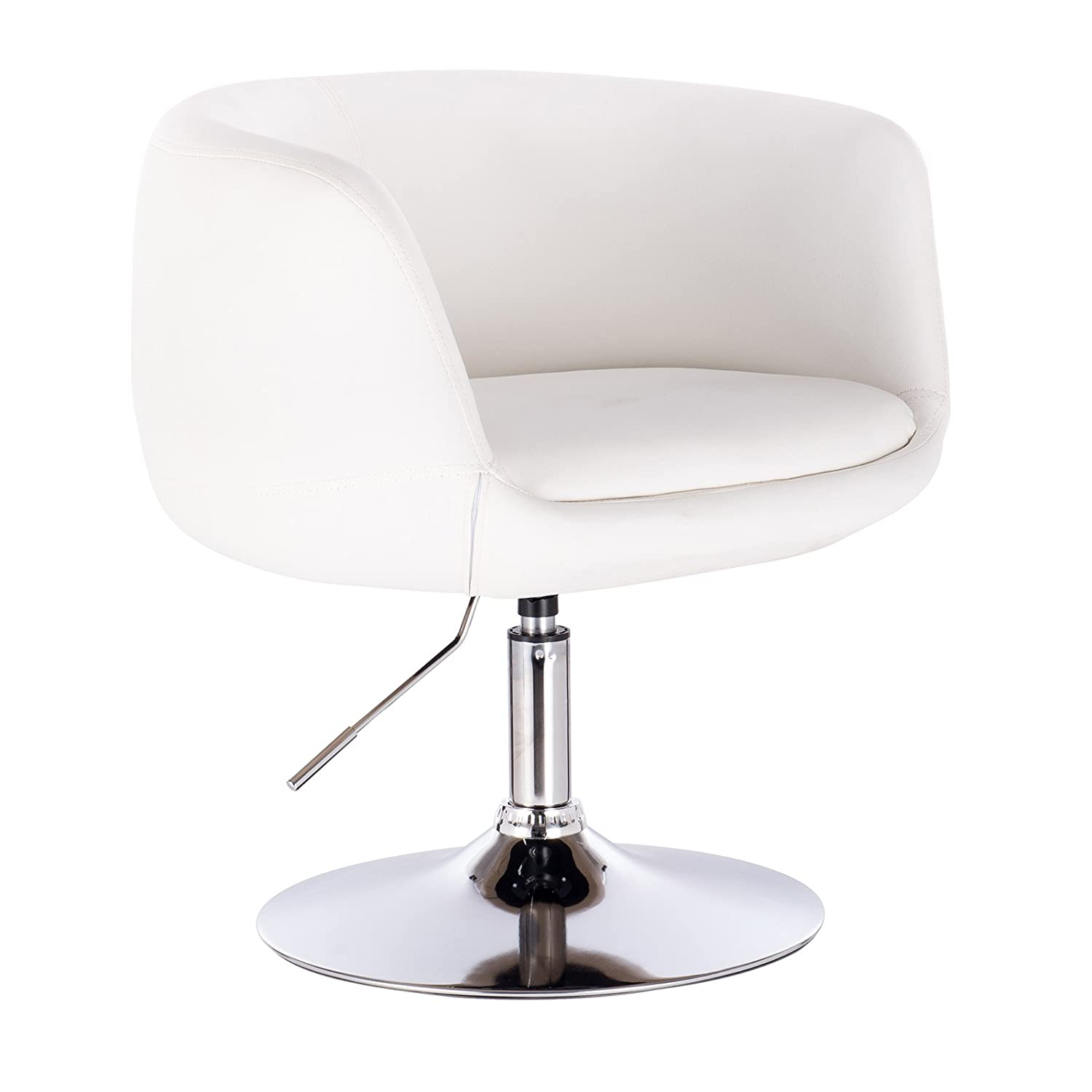 Woltu Bar Stool White Bar Chair Breakfast Dining Stool For Kitchen