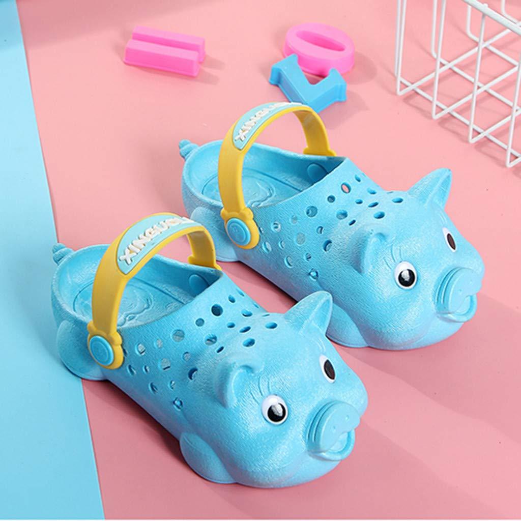Berimaterry Zapatos para Bebes Ni/ña Classic U Zuecos Unisex Zuecos Sabots de Material Sint/ético Ni/ños Antideslizante Sandalias Boys Kids Clog Sandals and Mules Conejo Pascua Cerdo Lindo