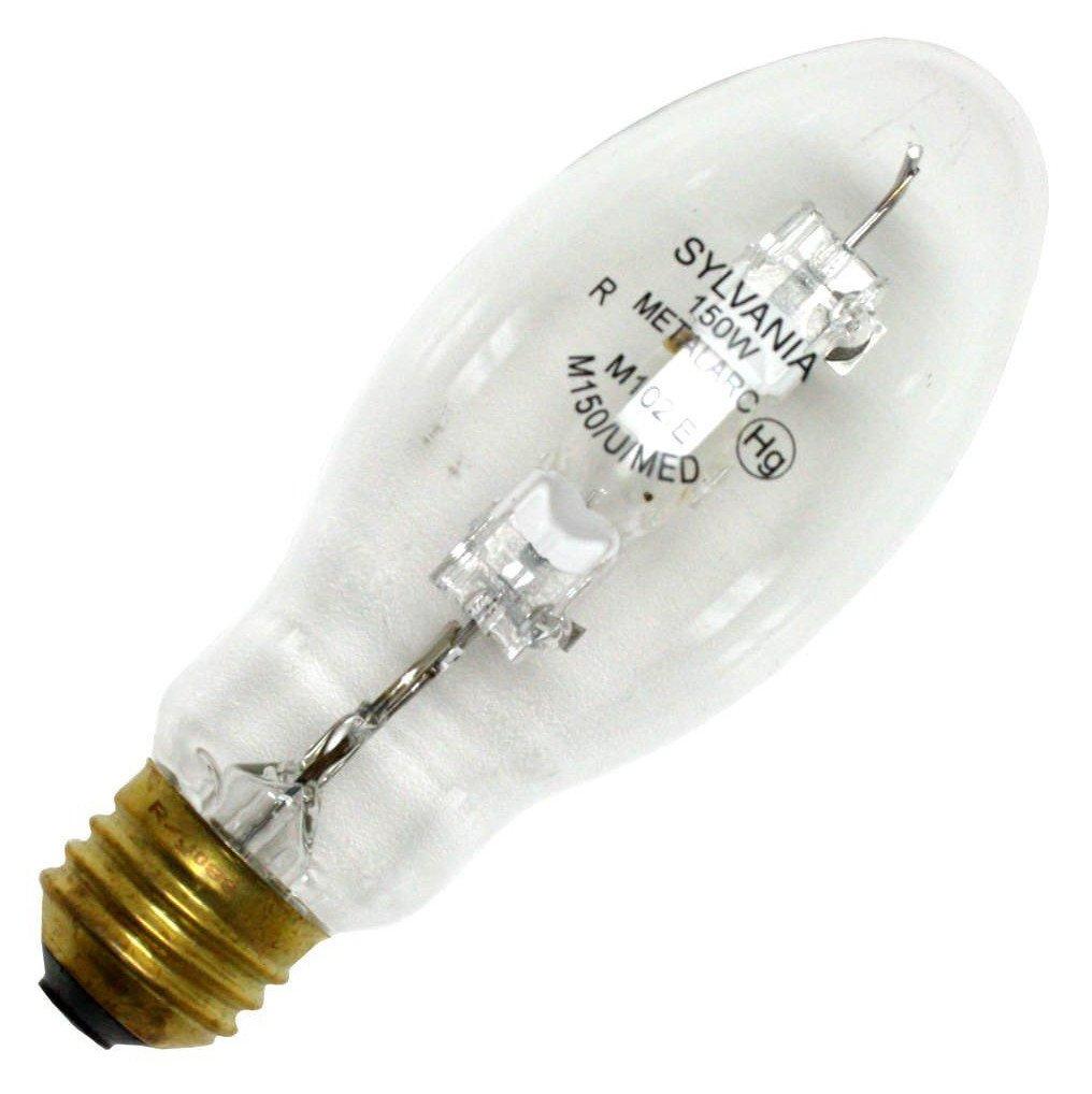Sylvania 64785 (2-Pack) M150/U/MED 150-Watt Metal Halide HID Light Bulb, 4400K, 14000 Lumens, 65 CRI, E26 Base