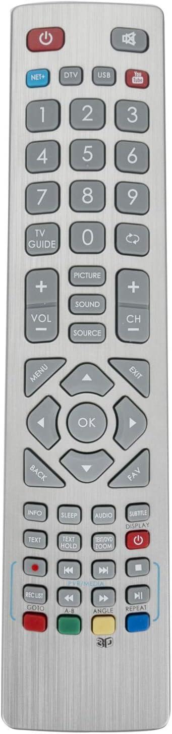 ALLIMITY RF Mando a Distancia reemplazado por Sharp Aquos TV with Net+ Youtube 3D Button LC-24CHE4011E LC-32CHE4040E LC-32CHE4042EH LC-43CFE6352E LC-48CFF6001K LC-49CFF6001K: Amazon.es: Electrónica