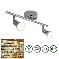 fsders Lot de 2 plafonniers LED en aluminium à 2 ampoules