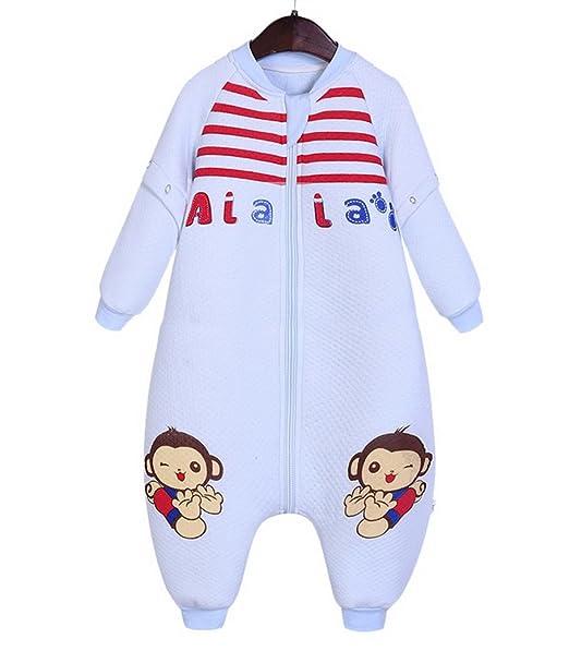 Happy Cherry Bolsa de Dormir Mono Acolchado Pijama de Mangas Largas Saco de Dormir para Bebés