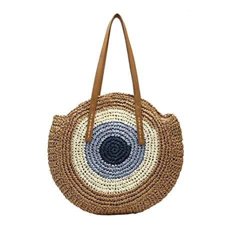 Beatie* Bolsos De Paja, Bolsos Bandolera De Mujer, Crochet De Mano En Color Liso Lady Beach Mini Messenger Bag, Bolsa Playa Bolsos De Fiesta para ...