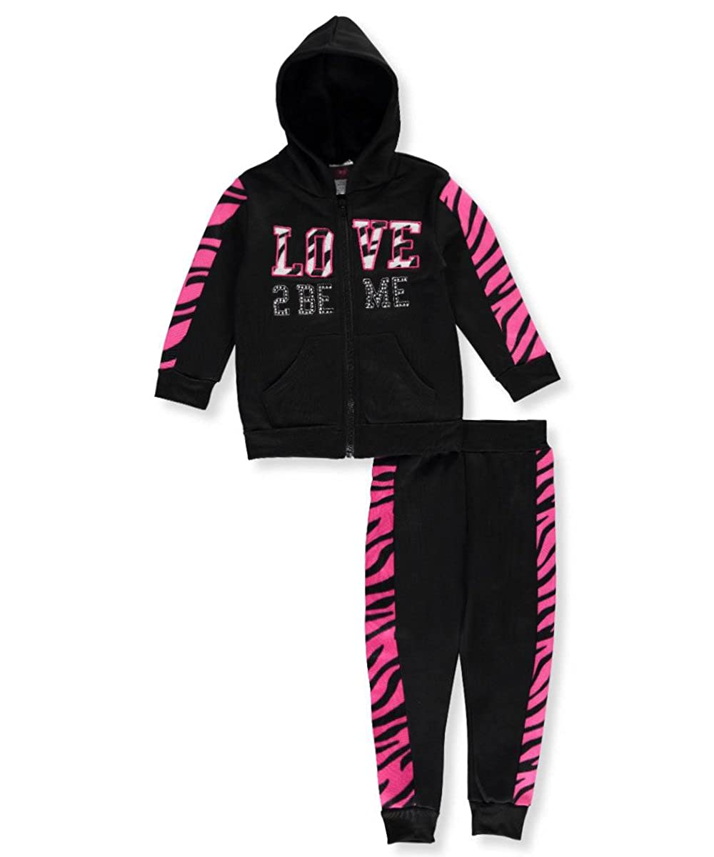 Diva Little Girls' Toddler 2-Piece Fleece Sweatsuit 4t