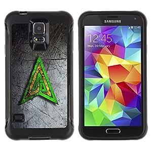 ZFresh Funda Carcasa Bumper con Absorción de Impactos y Anti-Arañazos Espalda - Skull Pirate Beat - Samsung Galaxy S5