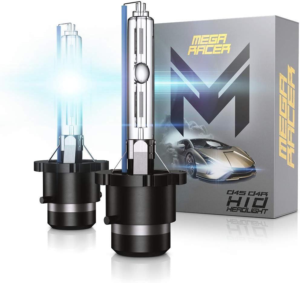 Mega Racer D4S D4C D4R D4S HID Bulbs 8000K HID Bulbs D4R BULB D4C BULB 35W HID Headlights Xenon Light Bulbs D4C HID Lights D4R Headlight HID Xenon Bulbs HID Headlights Replacement Bulbs Pair Of 2