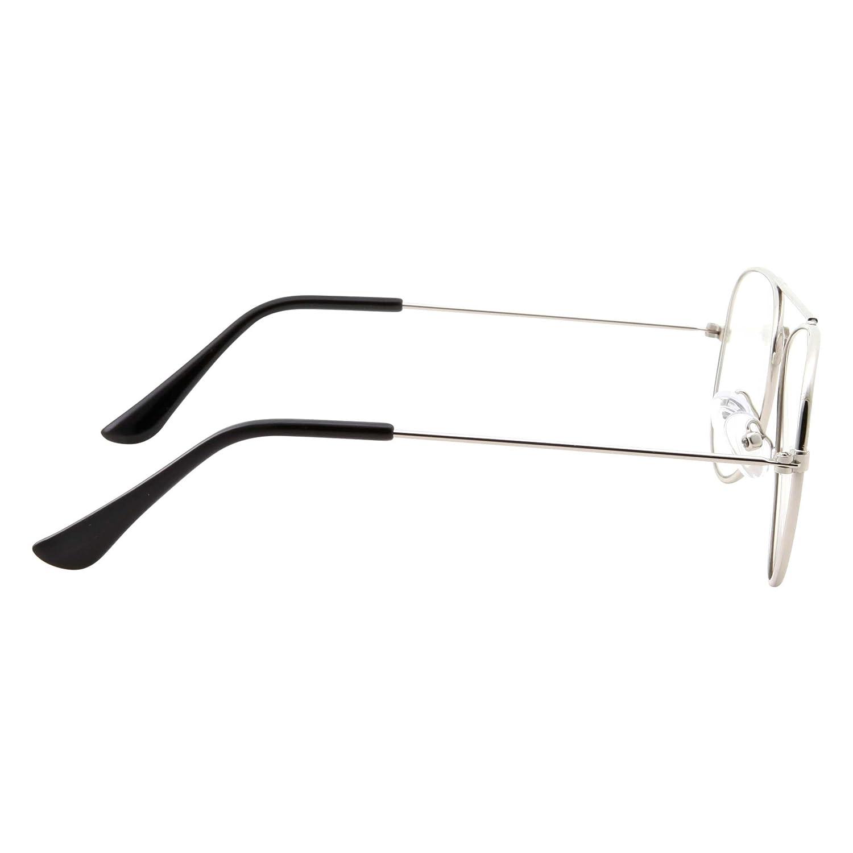 2deba59070 Kids Fake Aviator Eye Glasses Clear Lens Childrens Non Prescription  (Age 3- 10 ) Black ...