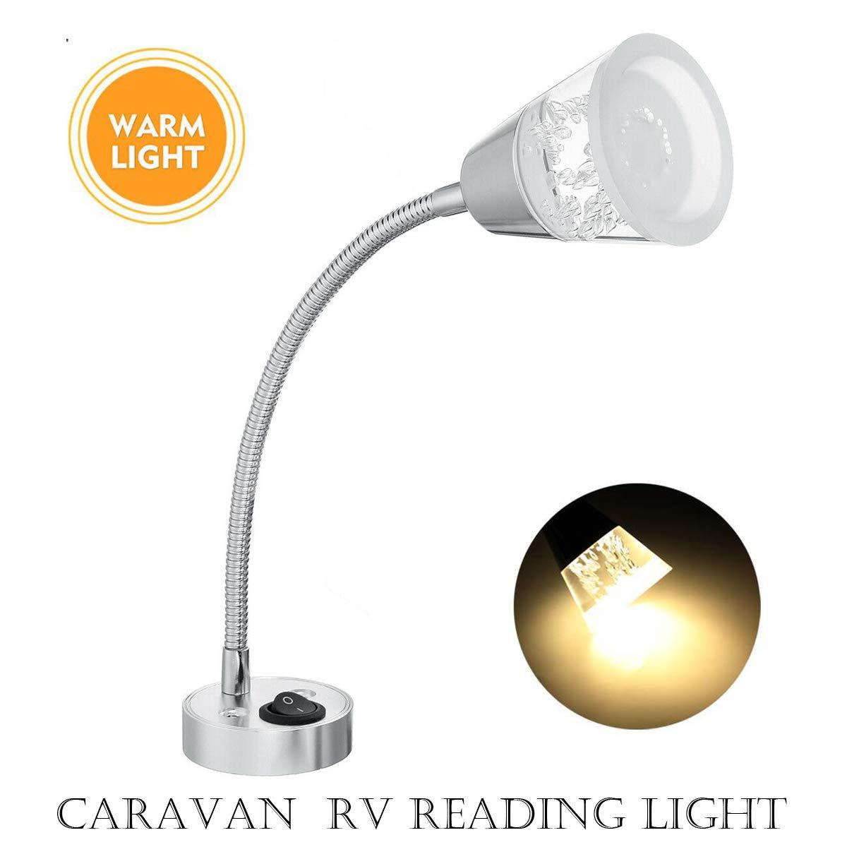 MASO 2X 12V LED Interior Reading Light Wall Spot Lights for Van Caravan Boat Motorhome Bedroom Lighting Warm