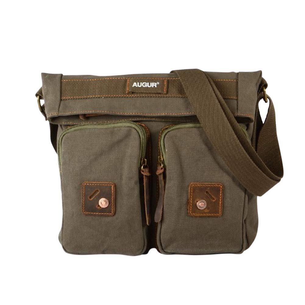 Genda 2Archer Multi-pocket Leisure Style Canvas Messenger Bag for Men and Women