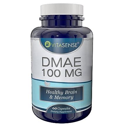 VitaSense - Dmae 100 mg - Salud del Cerebro y la Memoria - 60 cápsulas by