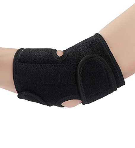 Elbow Support,Neoprene Elbow Support Brace Men Women with Adjustable Velcro Non-slip and Lightweight Elbow Sleeven for Bodybuilding Tennis Golfer Basketball for Pain Relief Injury Rehabilitation