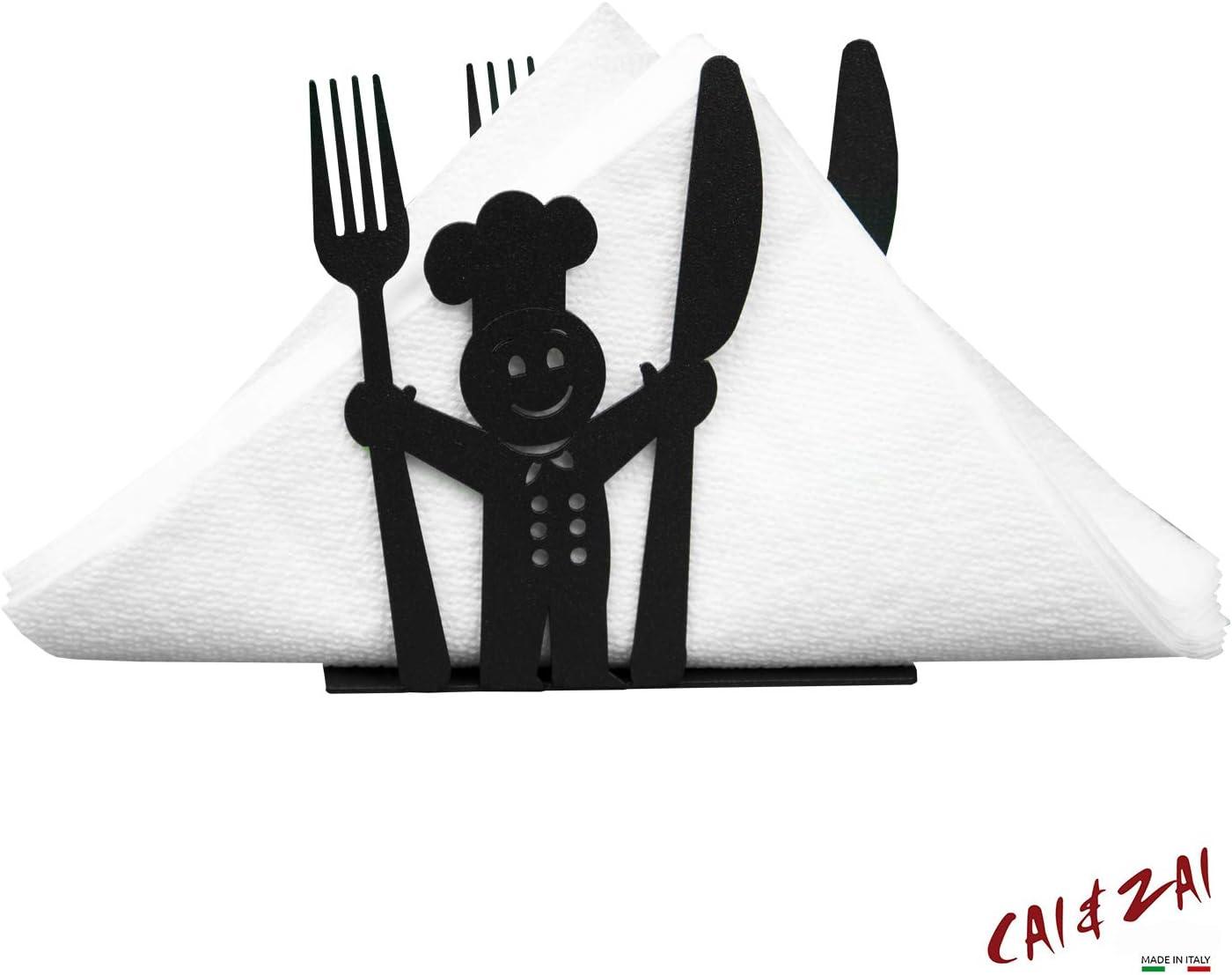 CAI /& ZAI-Set Cuoco-Portarrollos /& Servilletero-Dise/ño-Made in Itaty Portascittex