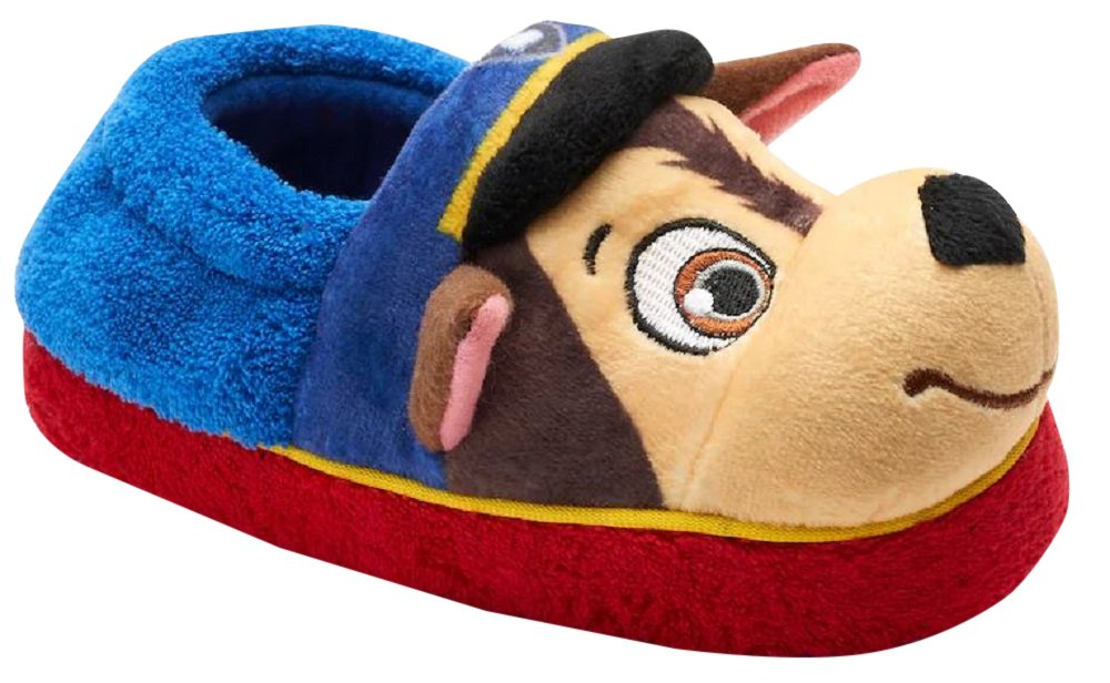 Nickelodeon Boy's Paw Patrol Slippers (9-10 M US Toddler, Blue/Red)