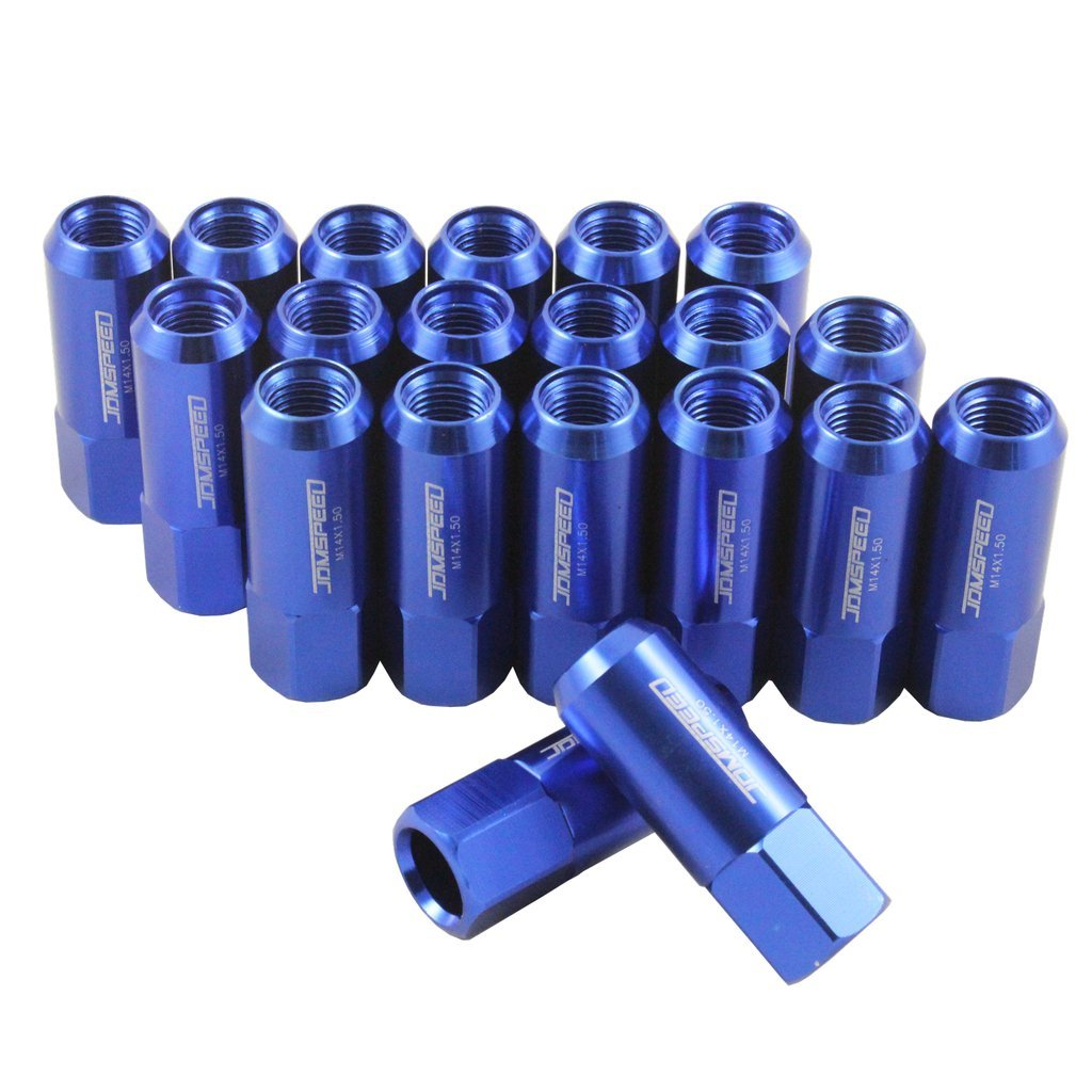JDMSPEED New Red 20PCS M14X1.5 60MM Extended Forged Aluminum Tuner Racing Lug Nut