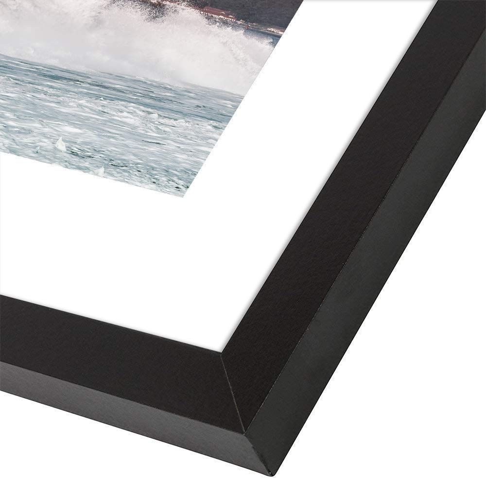11 x 14 Picture Frames with Real Wood and Real Glass, for 11x14 Without Mats or 8.5x11 with Mats,Set of 4