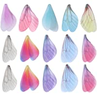 NUOBESTY Alas de Libélula DIY 50 Piezas DIY Alas de Mariposa Encantos Hechos a Mano Alas de Libélula Decoraciones…