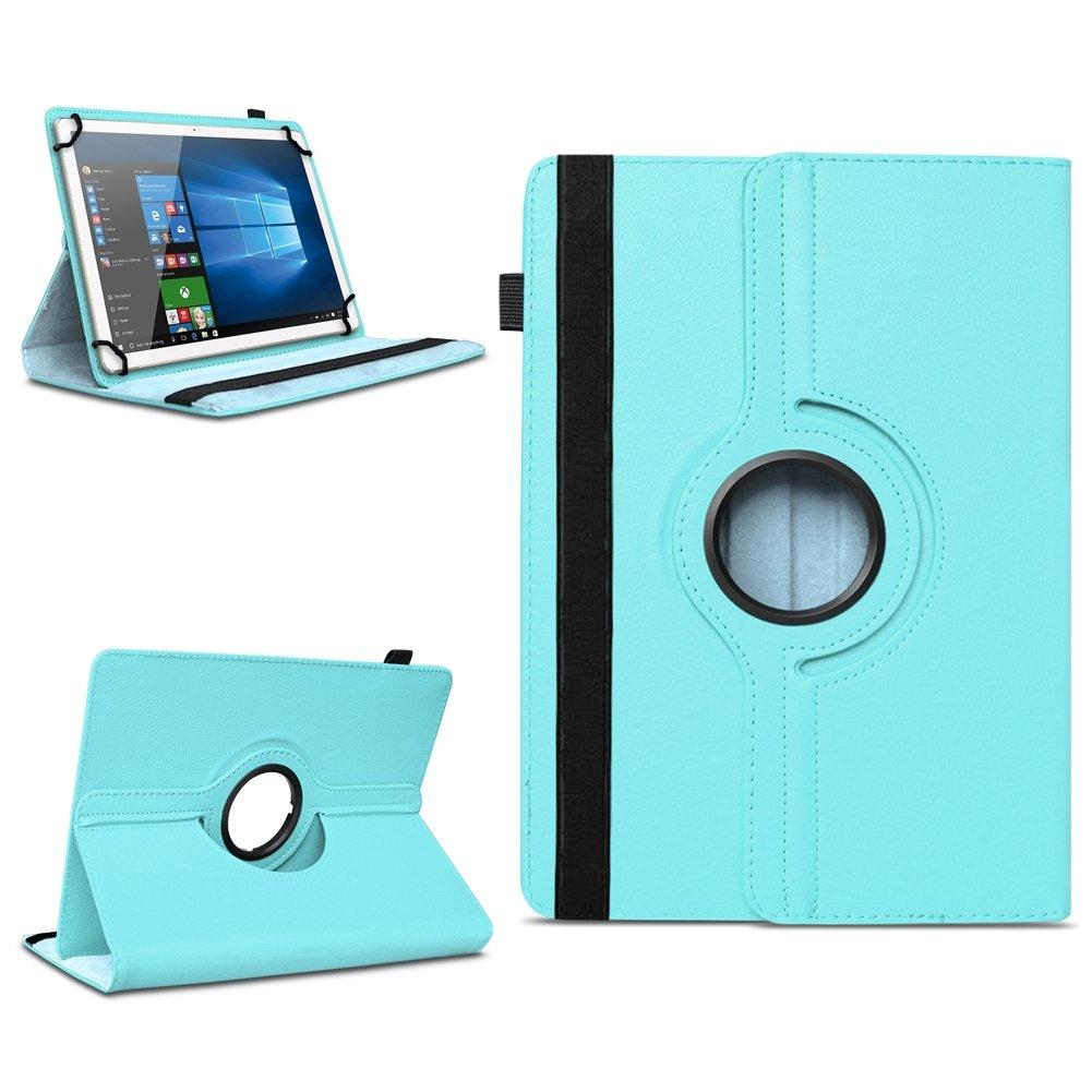 Étui de protection universel en cuir synthétique - Pour tablette NAUC Archos Access 101 3G - Avec fonction de support pivotant à 360 °
