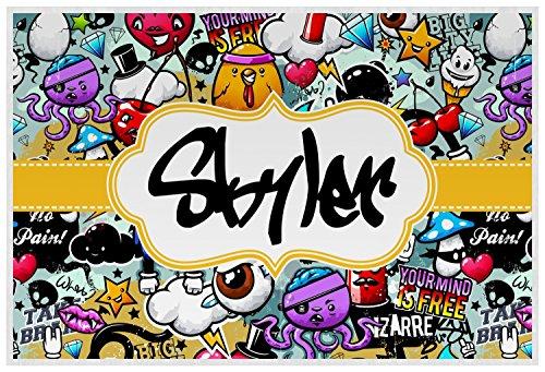 Graffiti Placemat (Laminated) (Chick Personalized Placemat)