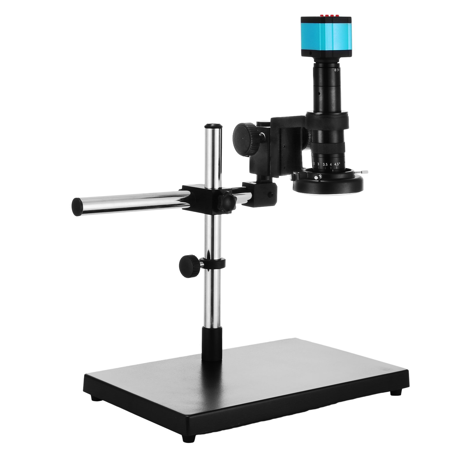Mophorn Video Microscope 14MP HDMI Industry Stereo Microscope Camera HD USB Digital Industrial Camera 180X C-mount Zoom Lens with Big Boom Stand Bracket (S1000A with Stereo Stand)