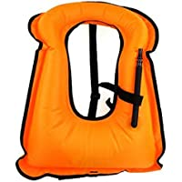 iRunzo Chaleco de snorkel - Inflable Compensador de flotabilidad Para niños adultos Buceo Nadando - Verde Chaleco de snorkel Inflable Compensador de flotabilidad Para niños adultos Buceo Nadando Naranja Adulto