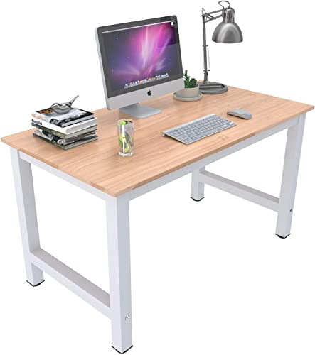 Mecor 43 Large MDF Computer Office Desk PC Laptop Table Study Work-Station Home Office Furniture Wood