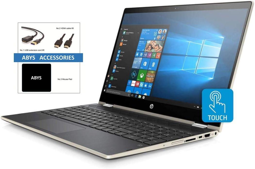 "HP Pavilion X360 Convertible 15.6"" HD IPS WLED-Backlit Touchscreen Notebook, Intel Quad-Core i5-8250U, 24GB RAM (16GB Intel Optane + 8GB DDR4), 2TB HDD, BT, USB-C, Webcam, Windows 10, ABYS Accessories"