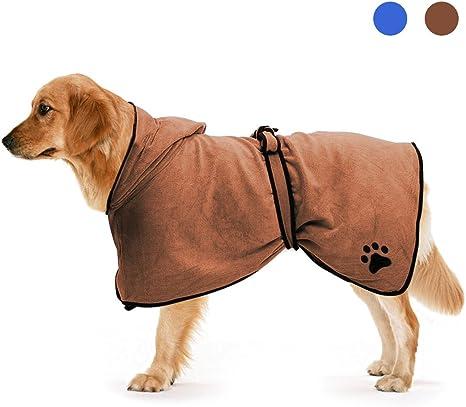 Zellar Mikrofaser Hundebademantel Schnell Trocknend Hund