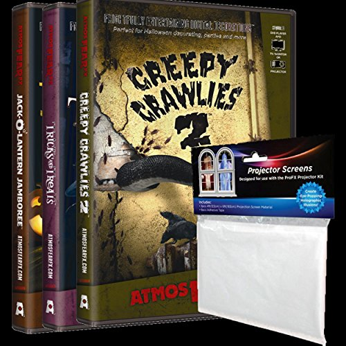 AtmosFEARfx Halloween Prop Tricks and Treats - Pumpkin Jamboree - Creepy Crawlies 2 Haunted House Video Projection Effects DVD Bundle]()