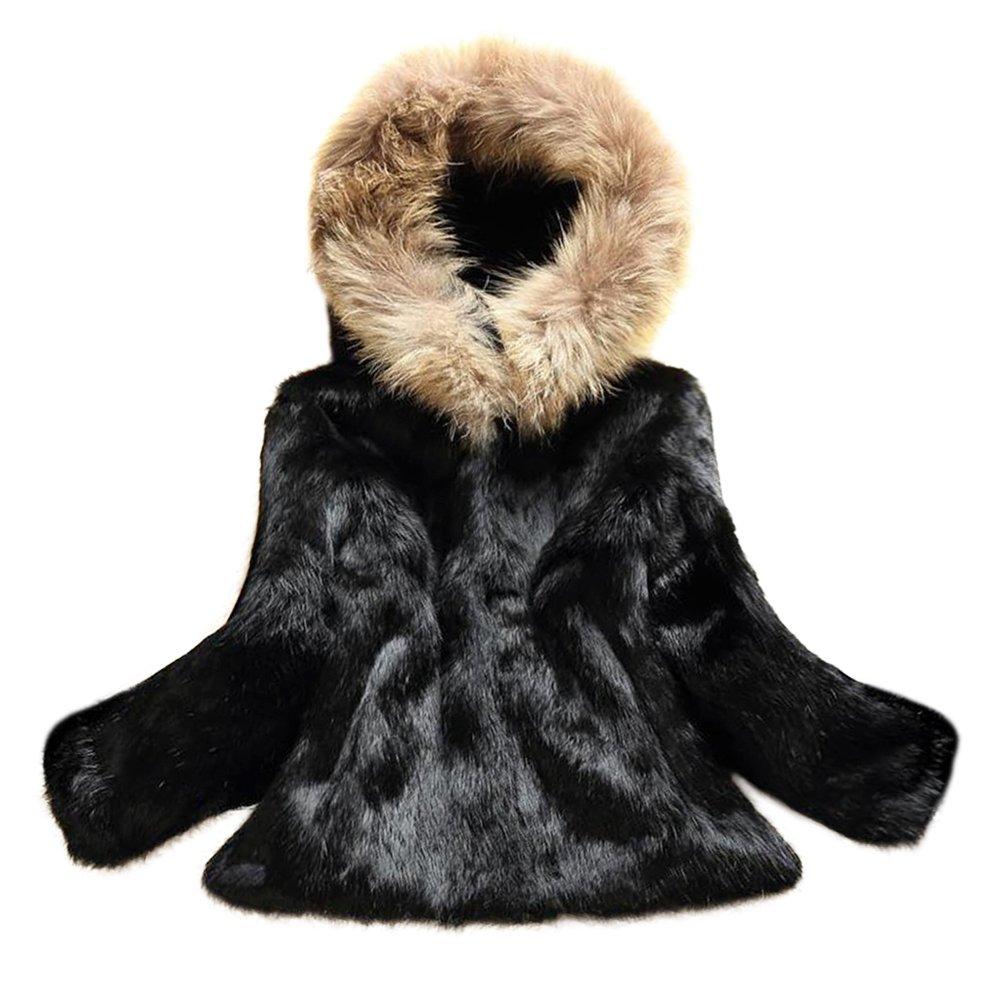 MINGCHUAN Hooded Coat Real Rabbit Fur Outwear Fluffy Long Sleeve Jacket With Raccoon Fur Collar Hood