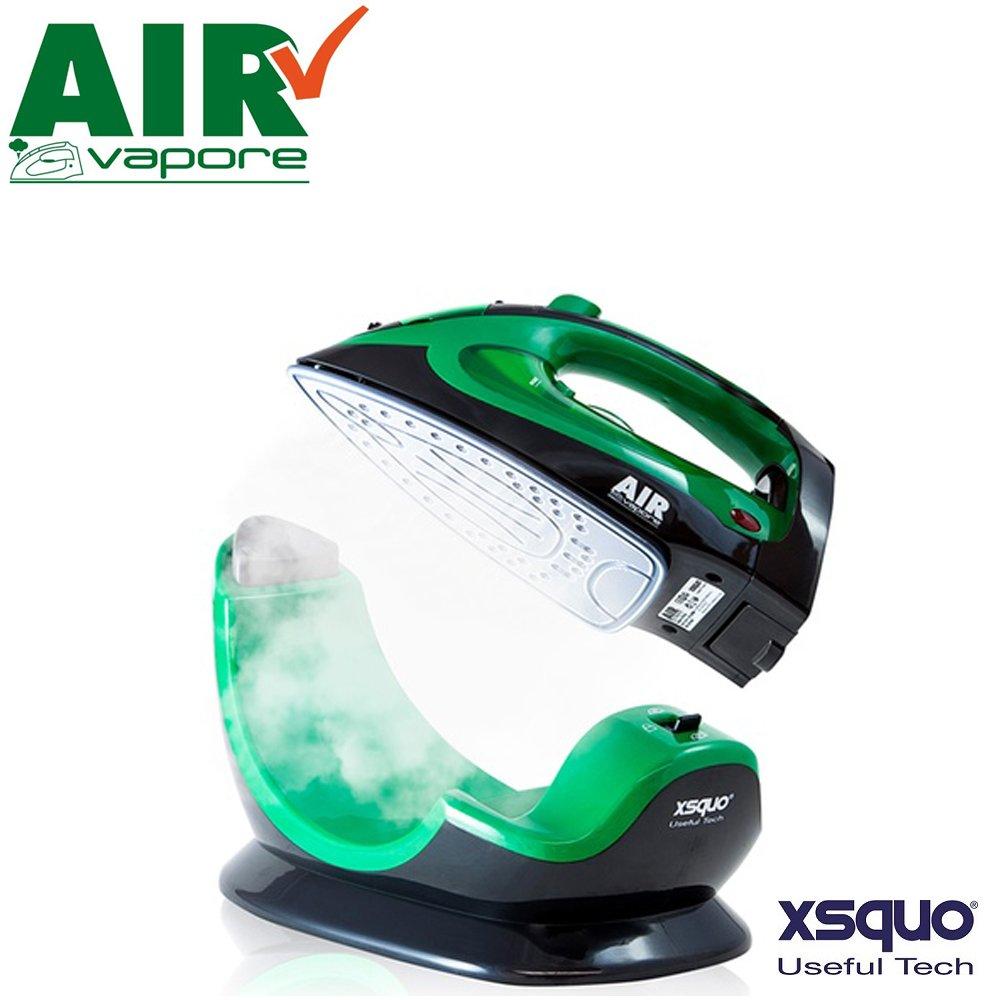 Air Vapore Plus - Il primo ferro da stiro con tecnologia senza fili per stirare con la massima libertà - piastra in ceramica con 37 fori d'uscita del vapore e base cordless da 2200W sistema senza filo multiuso 2 in 1 potente, pratico e leggero con termosta