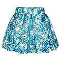MIKTY Womens Short Skirt Digital Print Stretchy Flared Skater Party Mini Skirt for Teen Girls