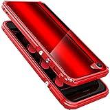 iPhone 8 ケース ハード ハイブリッド 二重構造 アルミバンパー + ポリカーボネート製背面プレート 耐衝撃 ストラップホール付き ワイヤレス 充電対応 軽量 薄型 ブランド 正規品 (レッド/レッド)