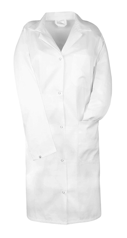 ZOLLNER® Bata de Laboratorio Manga Larga/Bata para Enfermera, Doctora, Dentista/Bata médica para Mujer, Blanca, 100% algodón, Botones a presión, Tallas 34, ...