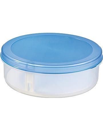 Récipient En Plastique Rond Avec Couvercle Boîte pour Gâteaux Tartes Biscuit