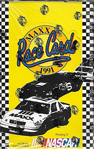 - 1991 Maxx Race Cards Factory Sealed Box Of 36 Packs Printing II