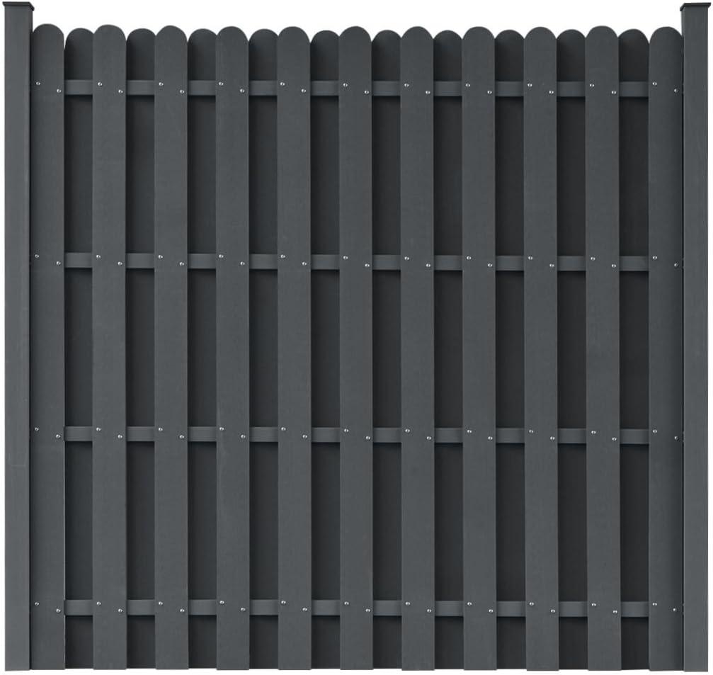 Vidaxl Wpc Zaun 180 180cm Grau Sichtschutzzaun Windschutz