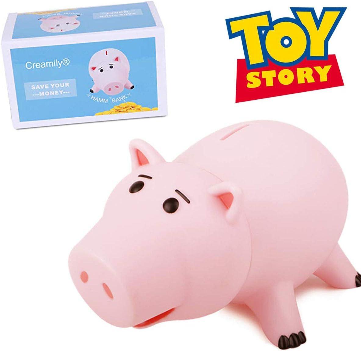 Creamily Hucha Cute Pink Pig Money Box Caja De Monedas De Ahorro De Plástico con Lindo Paquete