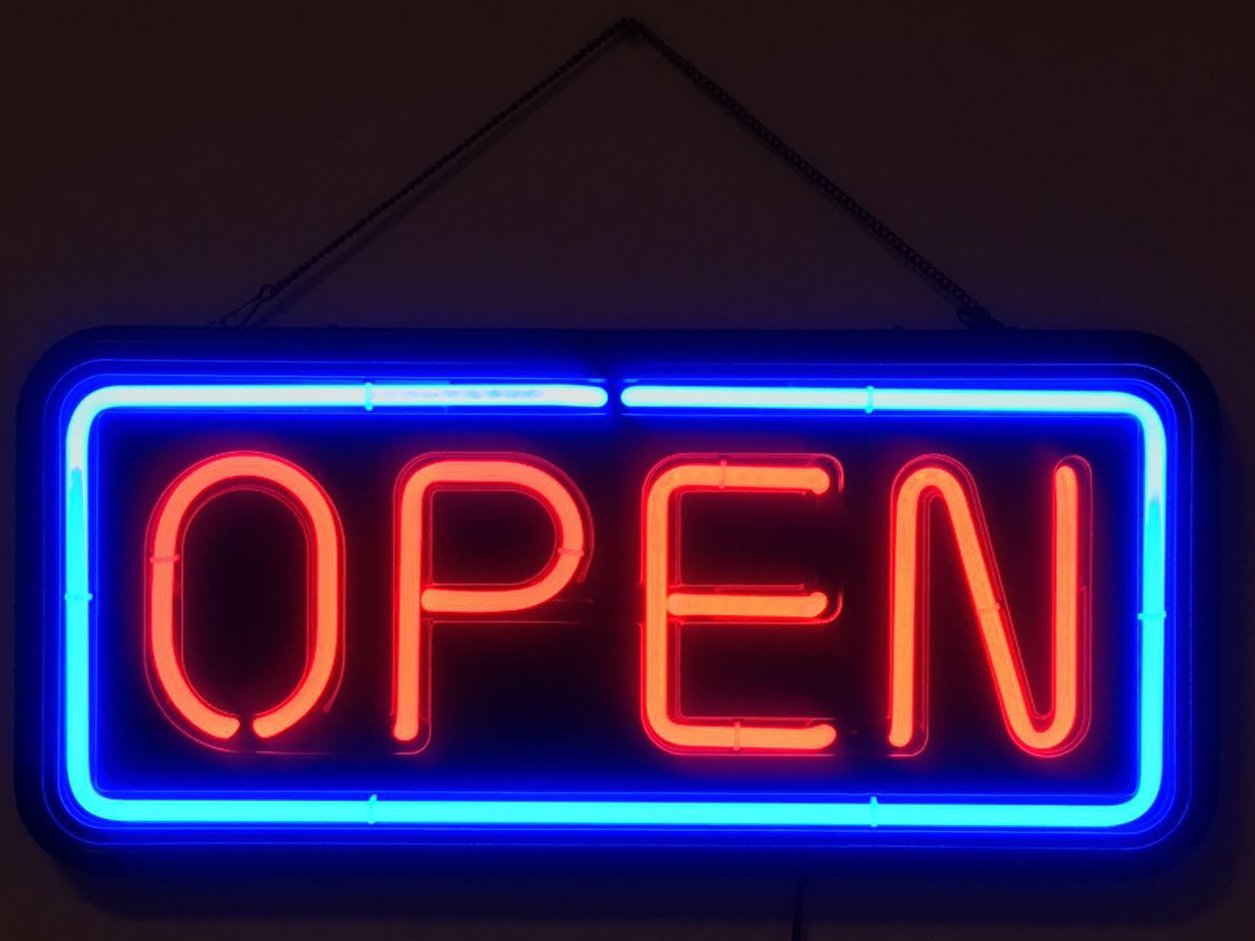 Real Glass Rectangular Neon Open Sign (Not LED Sign) Beer Bar Café Restaurant Shop Store Business Light Sign with on/Off Switch(from US)