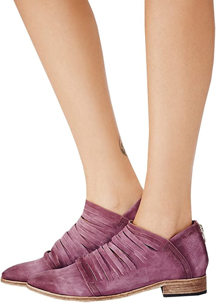 Zip Ankle Boots Shoes Purple