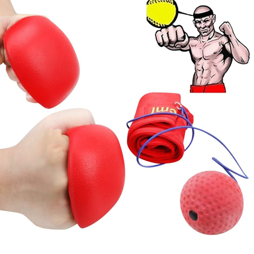 ROMIX Fight Ball Punching Exercise Combat Sports - Fun and Inexpensive Game Great Gift for Adults, Kids and Teenagers