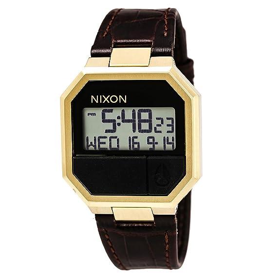 Nixon re-Run Reloj para Hombre Digital de Cuarzo con Brazalete de Piel sintética A944849: Amazon.es: Relojes