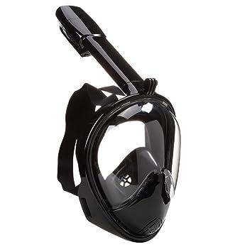 qileyin Snorkeling máscara, 180 ° de la cara llena Snorkel Máscara adultos y jóvenes,