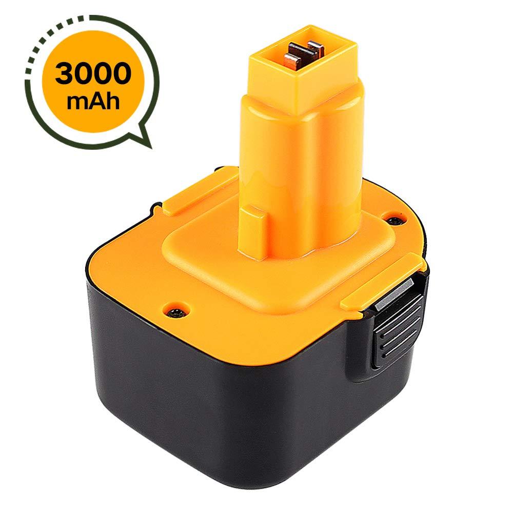 3000Ah Ni-MH de Repuesto para DeWalt 12V Bater/ía DE9074 DE9071 DE9075 DC9071 DE9037 DE9501 DE9072 DE9074 152250-27 397745-01