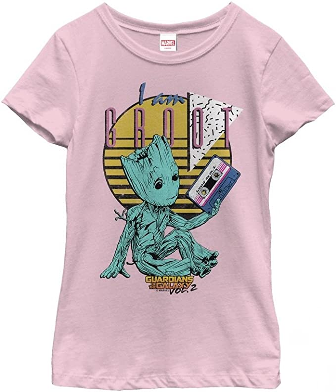 Marvel Guardians of the Galaxy Vol 2 Groot Face Girls Graphic T Shirt