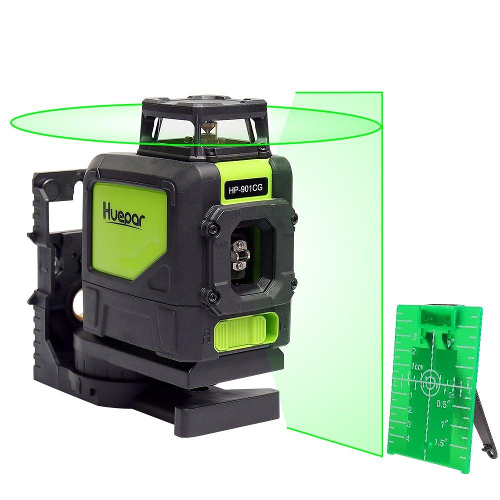 Levelsure CG Nivel Láser de Líneas Verdes Silencioso Horizontal y Vertical hasta